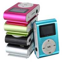 Mini USB Clip MP3 Music Media Player LCD Screen Support 32GB TF Card