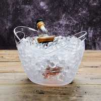 4L Plastic Transparent Garden Ice Bucket Super Large Ice Bucket Beer Champagne Big Ice Bucket Bar Tools