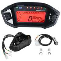 Universal Motorcycle LCD Digital Speedometer Tachometer Odometer Backlight Gauge