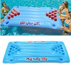 Meilleurs prix PVC Inflatable Beer Pong Ball Table Water Floating Raft Lounge Pool Drinking Game 24 Cups Holder