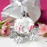 Crystal Pumpkin Car Baby Shower Wedding Gift Decoration with Box