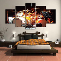 5 Cascade The Instrument Drum Scene Canvas Wall Painting Picture Home Decoration Without Frame Inc