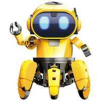 Pro'sKit GE-893 STEAM DIY AI Smart RC Robot Infrared Evades Bonds Walking ABS Robot Toy