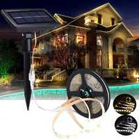 5M SMD2835 Waterproof Solar Powered LED Strip Light for Christmas Outdoor Garden Decor DC12V