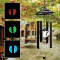 Solar Power Wind Chime Colorful LED Light Garden Courtyard Balcony Decoration Lamp
