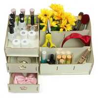 WPC Makeup Cosmetic Box Drawers Holder Storage Perfume Jewellery Case Organizer Cabinet