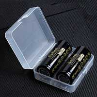 2Pcs Sofirn 3.7V 5500mAh Protected Rechargeable 26650 Battery With Storage Case High Capacity Lithium Battery Li-ion Batteries