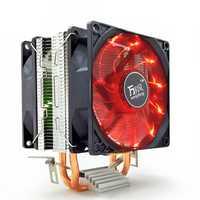 12V 3Pin Silent Double Tower CPU Cooling Fan Cooler Heatsink for Intel LGA1150 1151 1155 AMD 2/3+