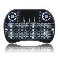 I8 2.4G Wireless White Backlit Hebrew Mini Keyboard Touchpad Air Mouse