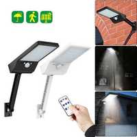 48 LED Solar Wall Light PIR Motion Sensor Outdoor Yard Street Lamp Waterproof with Remote Control