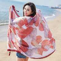 Women Printing Summer Sunshade Beach Scarves Shawl