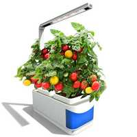 Bigin Indoor Herb Hydroponics Plants Garden Kit Lamp Adjustable Grow Lamp Lever Planting Light with Visible Blue Window