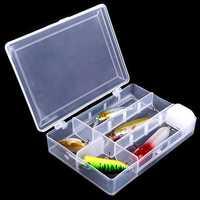 Removable Fishing Tool Bait Tackle Storage Box Transparent Fishing Tackle Box