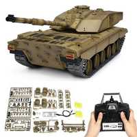 Henglong 3908-1 1/16 2.4G Smoking British Challenger 2II RC Car Battle Tank Metal Gearbox Toys