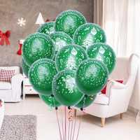 100 Pcs 12 Inch Green Color Christmas Party Balloon Interior Decoration Santa Claus Latex Balloons