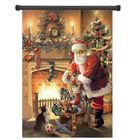 Buy at Best Price 30x45cm Christmas Polyester Santa Claus Welcome Flag Garden Holiday Decoration