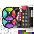 Meilleurs prix DC12V 5M 10M 5050 RGB LED Strip Light Kit Waterproof Home Decorative Lamp + Power Adapter + Remote Control