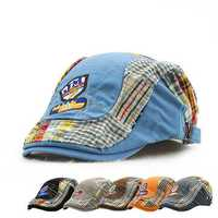 Kids Boys Girls Embroidery Letter Newsboy Beret Hat Casual Children Sunshade Flat Cap