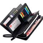 Recommandé Men Leather Business Long Wallet Credit Card Organizer