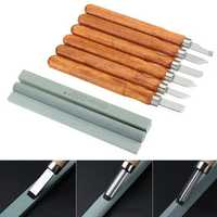 15Pcs Carbon Steel Wood Carving Tools Kit Wood Carving Chisel Set for DIY Woodworking Graver