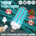 Meilleurs prix 100W UV Germicidal Lamp E27 UVC LED Bulb Ddisinfection Light with Timing Remote Control AC110V/220V