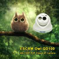 Escam QD100 720P IP Camera Network IR-Cut P2P IR Night Vision Motion Detection Support Onvif Camera