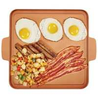 Copper Chef 12 Inch Food Grade Non-stick Frying Pan Baking Tray Griddle BBQ Tools Aluminum Frying Plate