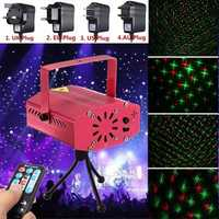 RED Mini R&G Auto/Voice Xmas DJ Disco LED Laser Stage Light Projector + Remote
