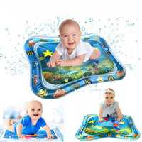Inflatable Water Baby Play Mat Infants Toddlers Fun Tummy Time Play Activity Center