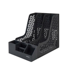 Acheter au meilleur prix Deli 78981 File Parts Storage Box With Pen Holder Desktop Finishing Frame Data Basket Office Three Grid Document