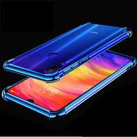 Bakeey Transparent Shockproof Plating Soft TPU Protective Case For Xiaomi Redmi Note 7 / Redmi Note 7 Pro
