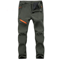Outdoor Thick Soft Shell Ski Pants Warm Fleece Trouser
