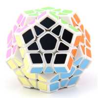 Megaminx Cube With Corner Ridges White Stickerless Twist Speed Puzzle For Kids Educational Gift Toys