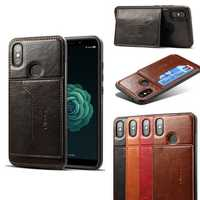 Bakeey PU Leather & Silicone Card Slot Protective Case For Xiaomi Mi A2 / Xiaomi Mi 6X