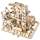 Recommandé 3D Self-Assembly Handcrank Wooden Marble Run Tower Magic Crush Puzzle Building Kits Mechanical Model Gift