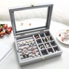 Acheter au meilleur prix Ring Earring Flannel Storage Box for Jewelry Dressing Table