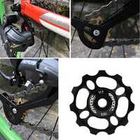 TWOOC 11T Aluminum Alloy MTB Bicycle Derailleur Pulley Wheel Cycling Bike Ceramics Guide Roller