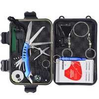 10 In 1 Outdoor SOS Emergency Equipment Tool Kit First Aid Box Supplies Survival