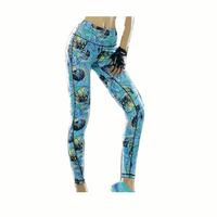 Women Yoga Leggings Fitness Printed Pants Slim High Elastic Tights Trousers