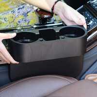 RUNDONG Universal Car Beverage Cup Holder Portable Vehicle Seat Crevice Organizer Shelving