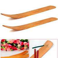1pc Natural Wood Wooden Incense Stick Catcher Burner 10 Inch