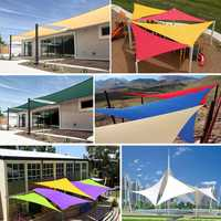 Outdoor Shade Sunscreen Waterproof Triangular UV Sunshade Sail Combination Net Triangle Sun Sail Tent Camping Garden