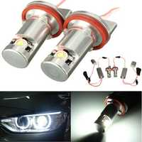 2x H8 LED Angel Eye Halo Ring Side Marker Light Bulb For BMW E70 E82 E90 E92 Z4