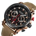 Meilleurs prix MEGIR 2085 Military Date Chronograph Leather Men Watch