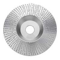 Drillpro 4 Inch Extreme Shaping Disc Tungsten Carbide Wood Sanding Carving Disc for Angle Grinder