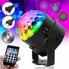 Meilleurs prix RGB Self-propelled Flash Mode Remote/ Voice Control LED Stage Light Crystal Ball Disco Club DJ Part