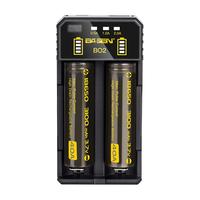 Basen BO2 Smart Li-ion Battery Charger for 14500 18650 26650 21700 Battery