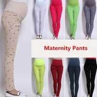 Abjustable Pregnant Women Abdominal Maternity Pants Belly Leggings Trousers