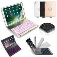 7 Colors Backlit Aluminum Alloy Wireless bluetooth Keyboard Case For iPad Air/iPad Air 2