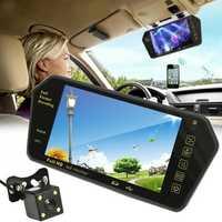 7 Inch TFT LCD bluetooth Car Rear View Parking Mirror Monitor + Reversing Car Camera